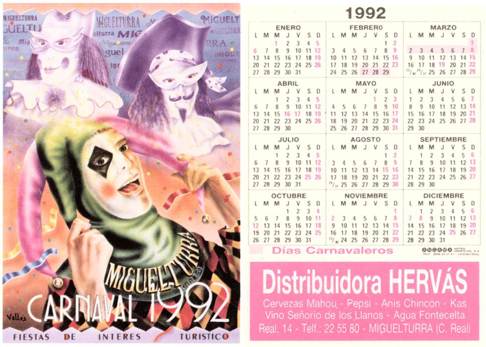 carnival-miguelturra-calendar-1992