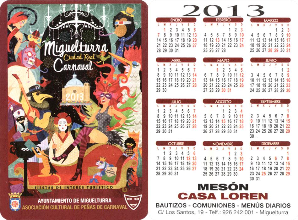 carnival-miguelturra-calendar-2013