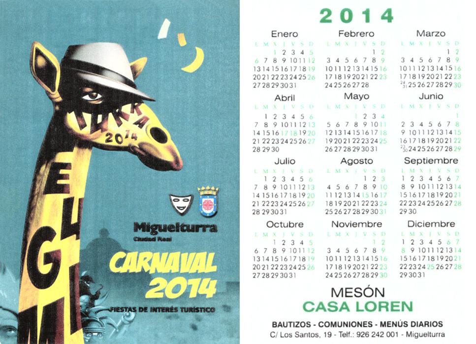 carnival-miguelturra-calendar-2014