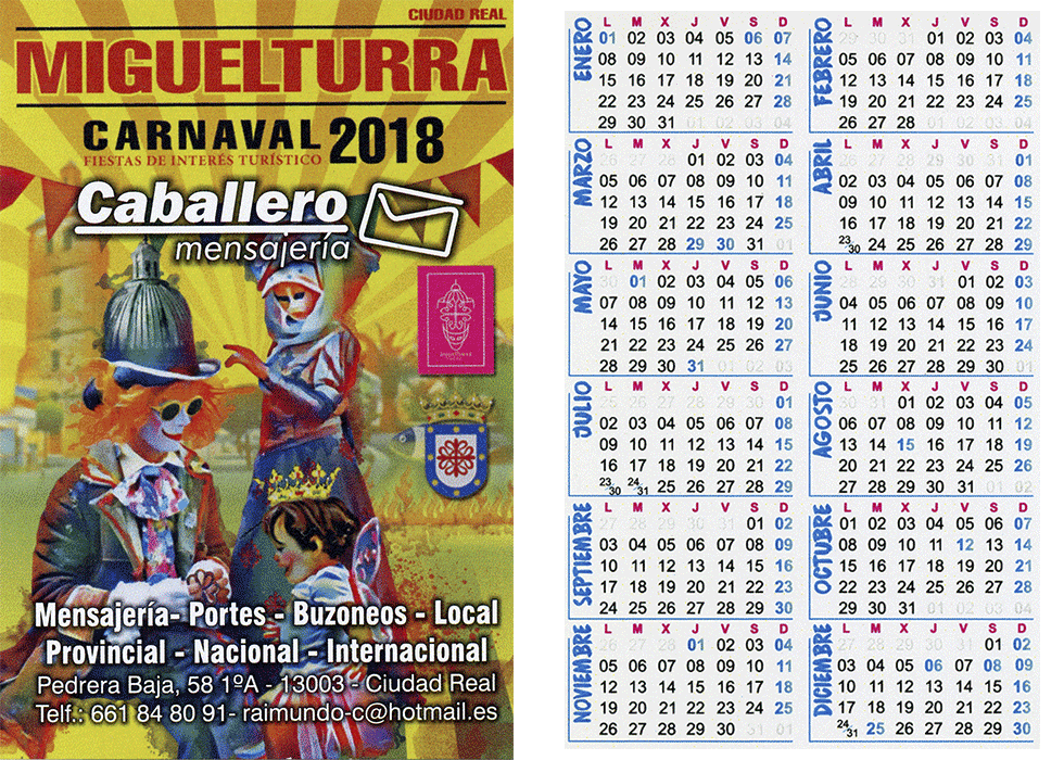 carnival-miguelturra-calendar-2018